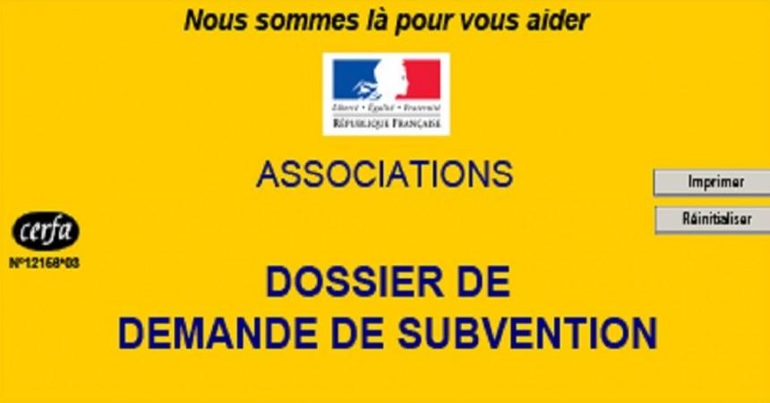 associations / demande de subvention pour l'année 2017