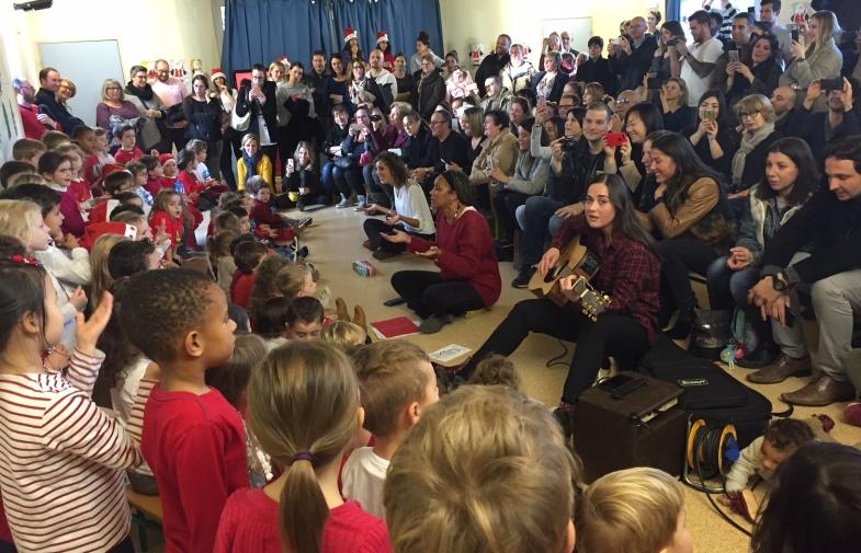 chorale de l'école maternelle