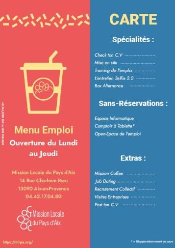 menu emploi