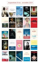acquisitions livres nov 2019