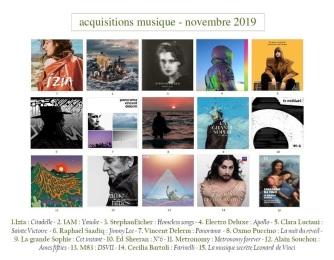 acquisitions musique nov 2019
