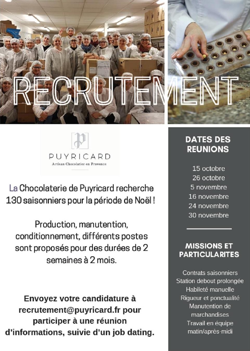 recrutement puyricard