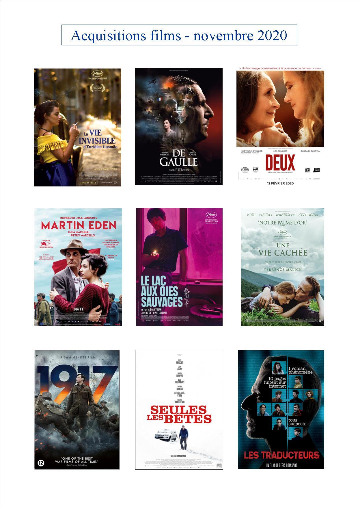 FILMS novembre 2020
