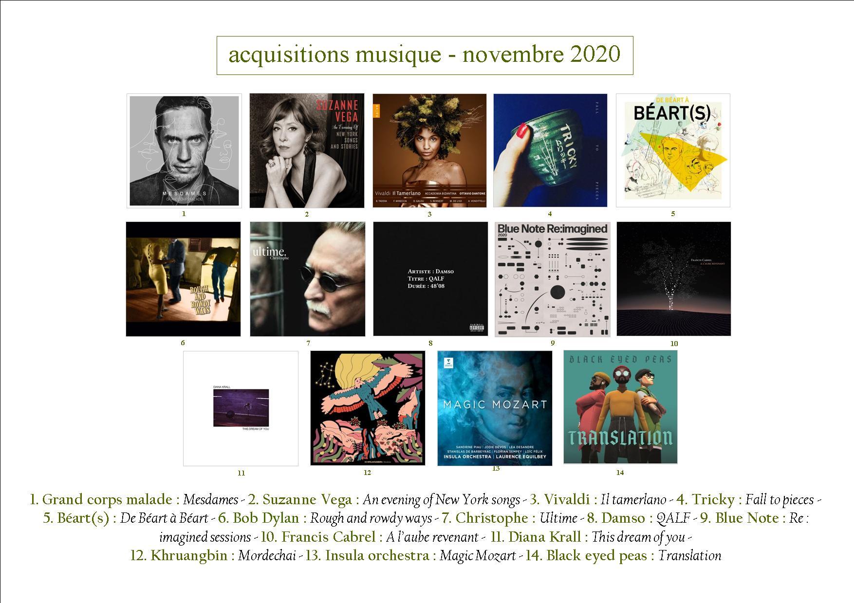 acquisition musique novembre 2020