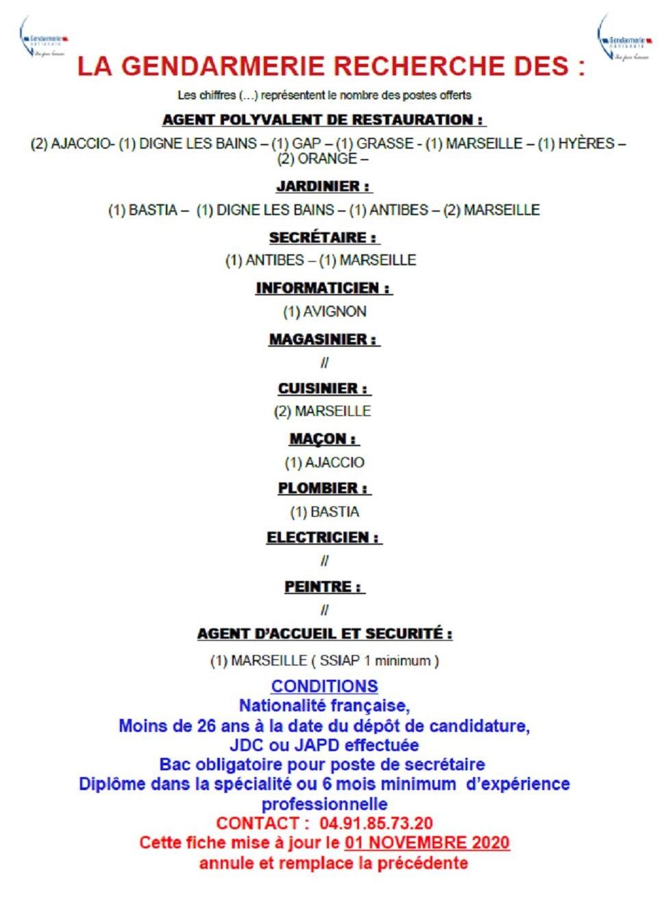 offre gendarmerie
